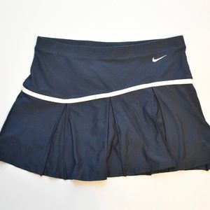 NIKE DRI-FIT | Navy Pleated Tennis Athletic Skirt